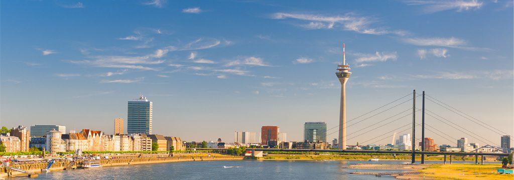Skyline der Landeshauptstadt Düsseldorf