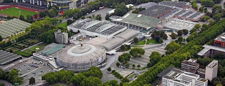 Luftaufnahme der Westfalenhallen in Dortmund