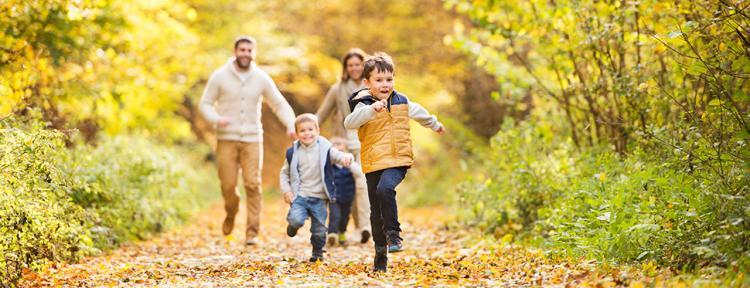 Herbst mit der Familie